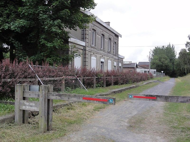 Trélon (Nord) ancienne gare sur la voie verte de l'Avesnois