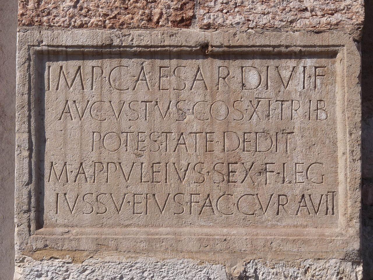 file trento sant 39 apollinare inscription of marcus. Black Bedroom Furniture Sets. Home Design Ideas