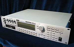 Sound module - Korg Triton rack-mountable sound module.
