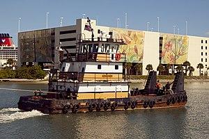 Tug Lou Anna Guidry pulling Pegasus barge through Port Canaveral.jpg
