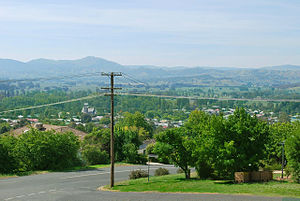 Tumut - The town from the Rotary Lookout
