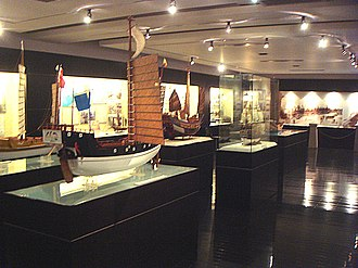 C. Y. Tung Maritime Museum - One of the exhibit rooms.