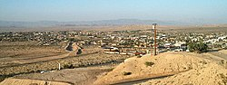 Northeast view of Twentynine Palms from Donnell Hill on the south side of town