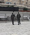 Two walking soldiers western wall.JPG