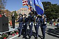 U.S. Airmen with the Joint Base Langley-Eustis Honor Guard parade the colors during a Veterans Day ceremony Nov. 8, 2013, at the Hampton Veterans Affairs Medical Center in Hampton, Va 131108-N-XP477-076.jpg