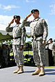 U.S. Army Gen. Vincent K. Brooks, left, the commanding general of the U.S. Army Pacific (USARPAC), and Maj. Gen. William Beard, the deputy commanding general of U.S. Army Reserve, USARPAC, render honors to 140902-A-RV513-043.jpg