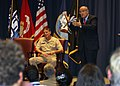 U.S. Navy Vice Adm. William Hunter Hilarides, left, commander of Naval Sea Systems Command (NAVSEA), listens to Rudy Giuliani former New York City mayor, speak to U.S. Sailors and employees with NAVSEA at 131031-N-ZZ999-407.jpg