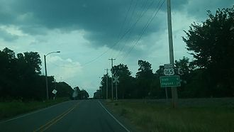 U.S. Route 165 - U.S. Route 165 at its northern terminus in North Little Rock, Ark.