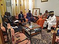 UN deputation at Nicephore Soglo's home, Cotonou, 22 March 2019.jpg