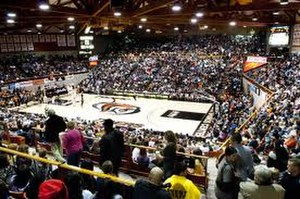Alex G. Spanos Center - Image: UOP basketball team during a game