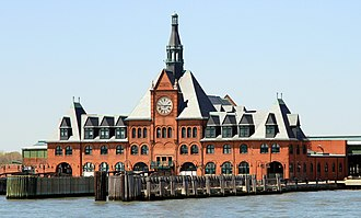 Central Railroad of New Jersey - The former Central Railroad of New Jersey Terminal, now part of the Liberty State Park in Jersey City, New Jersey