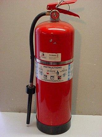 Aleksandr Loran - A modern foam fire extinguisher.