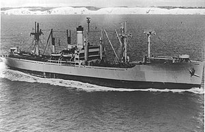 USNS Lt. George W. G. Boyce (T-AK-251) - USNS Lt. George W. G. Boyce (T-AK-251) underway, date and place unknown.