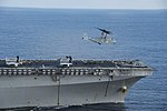 USS Bonhomme Richard conducts flight operations. (29986117213).jpg