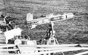 Beechcraft MQM-61 Cardinal - Image: USS Boston (CAG 1) launches KDB 1 drone c 1962