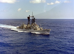 USS Somers (DDG-34) underway, circa in the early 1980s (6483131)
