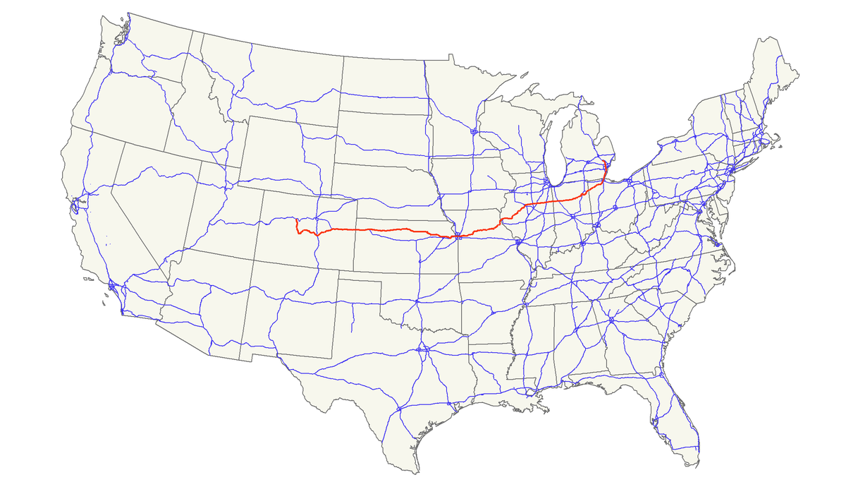 US Route Wikipedia - Us 24 map