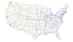 US Highway Wikipedia - Us 24 map