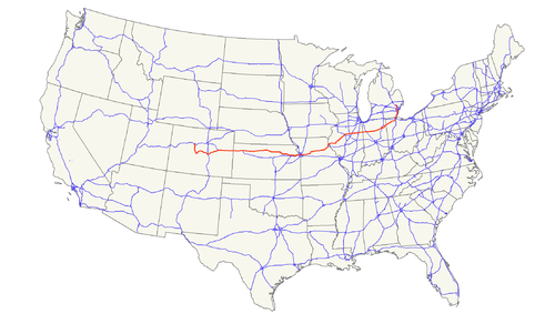 US Highway Wikiwand - Us 24 map