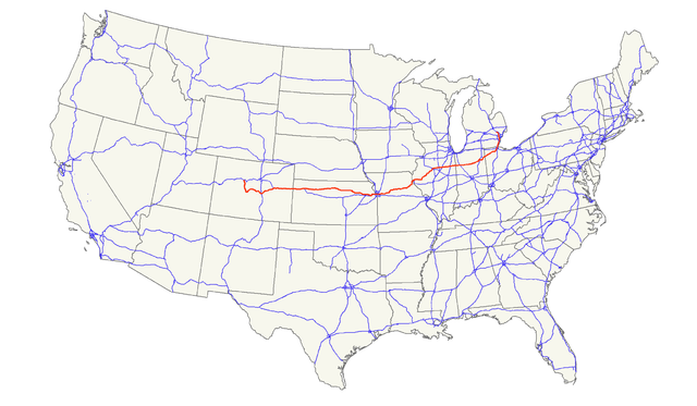 US Route Wikiwand - Us 24 map