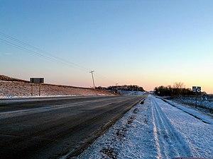 Iowa Highway 9 - Iowa 9 follows US 69 for a few miles in Winnebago County