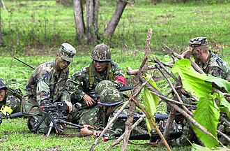 Royal Thai Armed Forces - Thai and US military training together during Cobra Gold 2001.