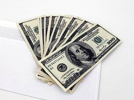 US Dollars and envelope