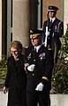 US Navy 040611-N-5362A-011 Commanding General, U. S. Army Military District of Washington, Maj. Gen. Galen B. Jackman, escorts former First Lady Nancy Reagan.jpg