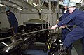 US Navy 050328-N-7538D-032 Deck Department personnel secure the anchor chain in the ship's forecastle aboard USS Nimitz (CVN 68).jpg