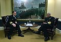 US Navy 060307-N-2383B-100 Chief of Naval Operations (CNO) Adm. Mike Mullen meets with Commander, Colombian Navy, Adm. Mauricio Alfonso Soto Gomez.jpg