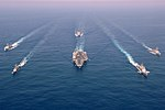 US Navy 060507-N-0119G-001 The Enterprise Carrier Strike group (CSG) sails through the Atlantic Ocean in formation.jpg