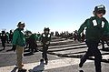 US Navy 070202-N-4009P-026 Sailors on the flight deck of USS Ronald Reagan (CVN 76) participate in a mass casualty drill.jpg