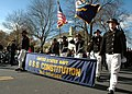 US Navy 071117-N-2893B-001 USS Constitution Sailors march at the annual Plymouth Thanksgiving Parade.jpg