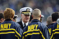 US Navy 081206-N-6266K-960 Chief of Naval Operations (CNO) Adm. Gary Roughead congratulates a group of Navy recruits sworn into the Navy before the second quarter of the 109th Army-Navy college football game.jpg