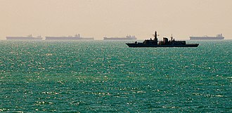 HMS Richmond (F239) - Richmond patrolling near the Al Basra Oil Terminal, Iraq