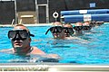 US Navy 090511-N-4301H-051 Basic Crewman Training candidates tread water in a pool while waiting for instructions during their first physical screening test at Naval Amphibious Base, Coronado.jpg