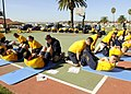 US Navy 101110-N-7214P-031 Sailors assigned to Naval Medical Center San Diego conduct the curl-up portion of the Navy Physical Readiness Test at Ma.jpg