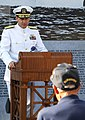 US Navy 110816-N-BX435-020 Vice Adm. Mark Harnitchek, deputy commander of U.S. Transportation Command, speaks during a wreath laying.jpg