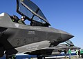 US Navy 111015-N-UM734-508 BF-02, front, and BF-04, two Marine Corps variants of the F-35B Lighting II Joint Strike Fighter, are secured on the fli.jpg