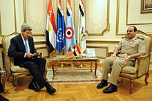 US Secretary of State Kerry Meets With Egyptian Military Leader General al-Sisi in Cairo 2013-11-03.jpg