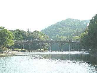 Ise, Mie - Uji Bridge, entrance to the Inner Shrine
