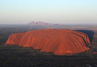 Uluṟu-Kata Tjuṯa National Park - Uluru (close) and Kata Tjuta (far)