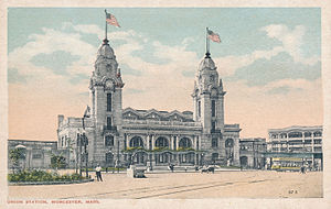 Union Station (Worcester, Massachusetts) - Union Station, circa 1920
