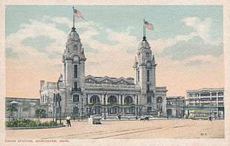 Union Station (Worcester, Massachusetts) - Union Station, circa 1920
