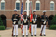United States Marine Corps Color Guard - in front of the Commandant of the Marine Corps' house