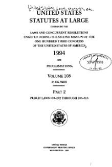 United States Statutes at Large Volume 108 Part 2.djvu