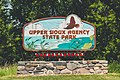 Upper Sioux Agency State Park Entrance Sign, Minnesota (35401979462).jpg