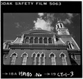 Upper story windows,lintels,mansard roof and tower - Norwich City Hall, Union Square, Norwich, New London County, CT HABS CONN,6-NOR,17-3.tif