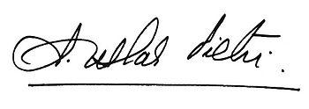 Uslar Pietri signature