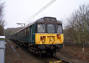 British Rail Class 310 - The V Train on the AC system pictured near Shenfield railway station on 2 February 2004 - the train consists entirely of Class 310 vehicles